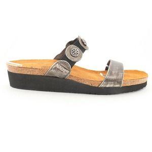 Naot Marissa Slides Sandals Metal 43 ()6031